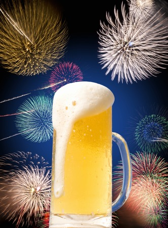 showy: Beer and Fireworks