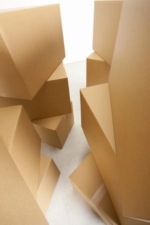 corrugated: Corrugated cardboard and afterward