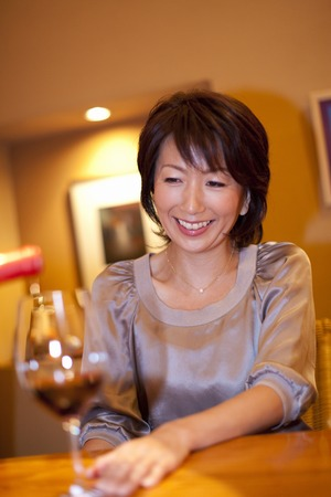 downlight: Women who get pouring wine