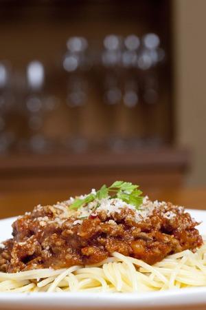 meat sauce: Spaghetti meat sauce