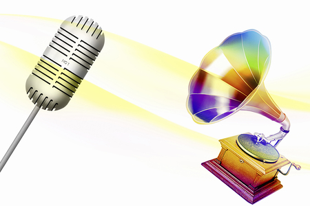 phonograph: Phonograph and microphone