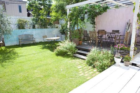 庭やベランダ ガーデン 写真素材