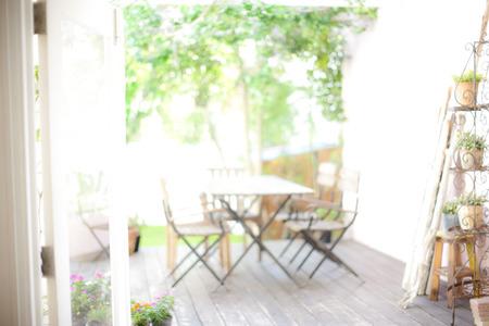 gradually: Garden wooden deck