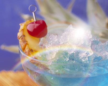 rainbow cocktail: Blue Hawaii Stock Photo