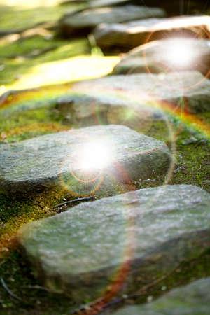 stepping stone: Paving stones Stock Photo