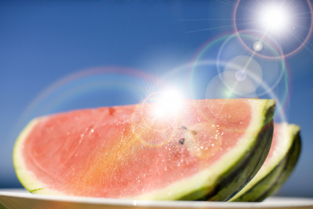 pleasent: Watermelon Stock Photo
