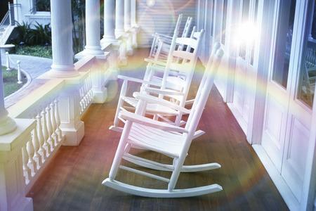 rocking chair: Rocking chair Stock Photo