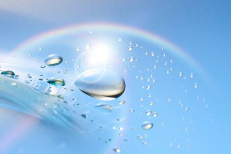 cleansed: Water droplets Stock Photo