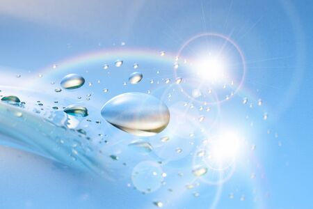 Water droplets 免版税图像