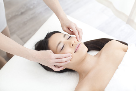 facial massage: Massage du visage