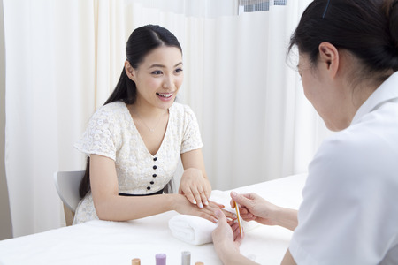 nailcare: Women who came to the nail salon
