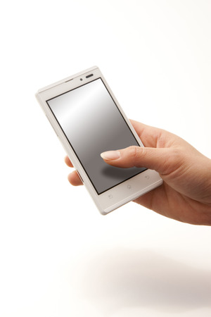 internet terminal: Hand with a Smartphone