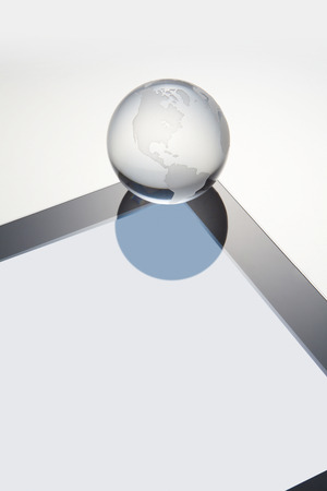 liquid crystal: Globe and a liquid crystal screen