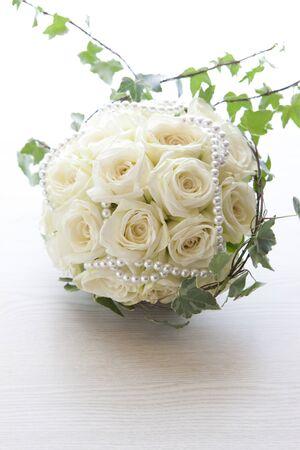 whiteness: Wedding bouquet