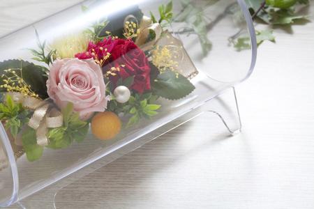 telegrama: Telegrama de felicitación de las flores Foto de archivo