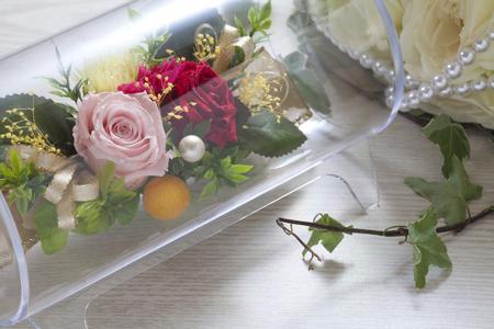 telegrama: Telegrama de felicitaci�n de las flores Foto de archivo