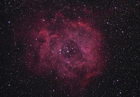Rosette Nebula Archivio Fotografico