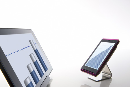 gain access: Tablet PCs and smart phones Stock Photo