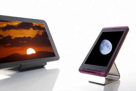 pcs: Tablet PCs and smart phones Stock Photo