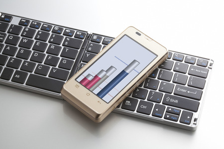 Smartphone with keyboard