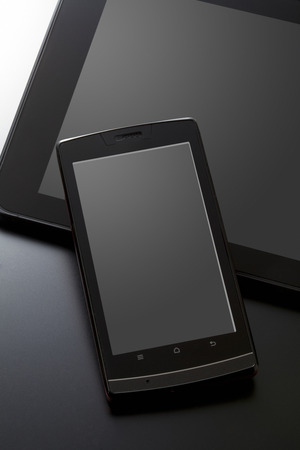 pcs: Tablet PCs and smart phones Stock Photo