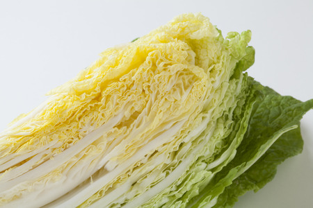 isolated on the white background: Chinese cabbage