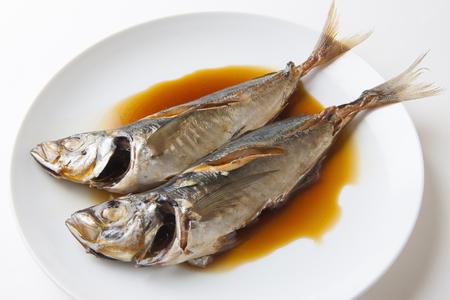 Horse mackerel in soy sauce