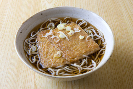 Buckwheat noodles with fried
