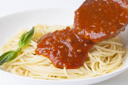 meat sauce: Spaghetti with meat sauce
