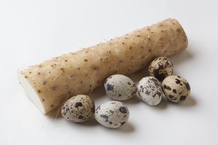 japanese quail: Quail eggs and potatoes