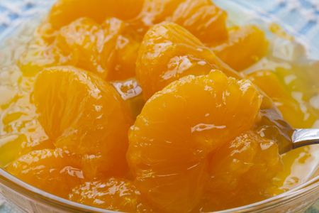 jello: Mandarin orange Jello