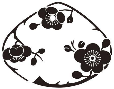 was: Clam-shaped plum flowers nose clam was Umeno