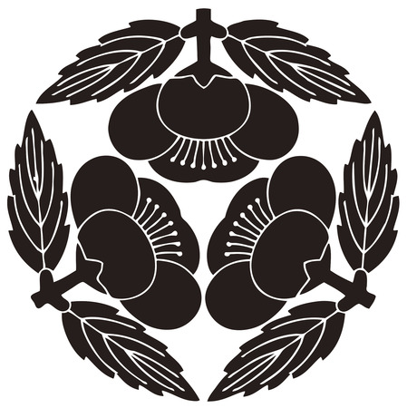 embedding: Leaves with three Yokomi plum