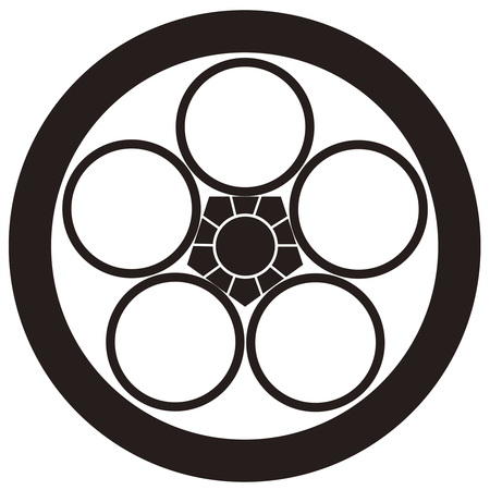 the period: Round to seven-week mourning period Umehachi Chuka-ge Umebachi in circles
