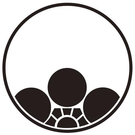 loop: Umehachi asomando en bucle de hilo Foto de archivo