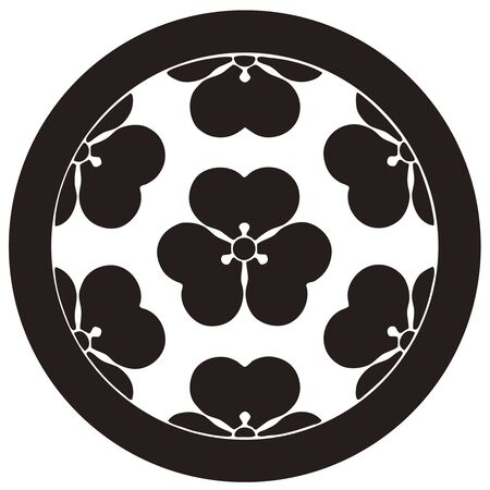 daimyo: Seven Kata Chosokabe only seven oxalis Stock Photo