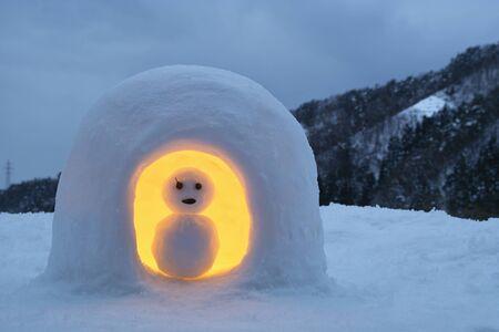 kamakura: Snowman of Kamakura Stock Photo