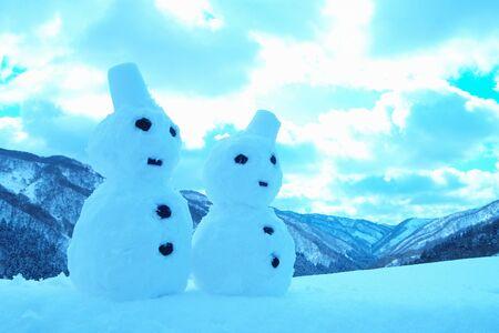the pair: Pair of snowman