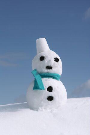 damper: Snowman Stock Photo