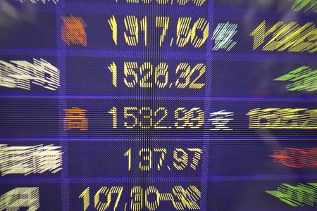 Stock display board Imagens