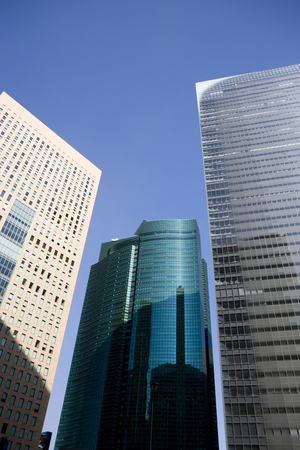 center position: Buildings of Shiodome Stock Photo