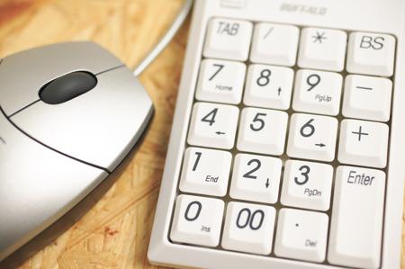 teclado num�rico: Teclado y rat�n num�rico Foto de archivo