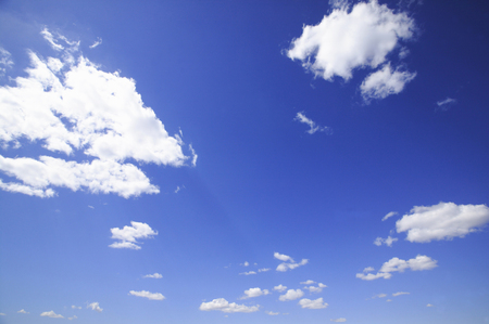 vertical orientation: Blue sky and clouds