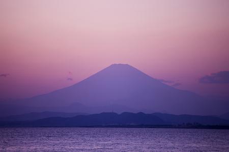 mt: Mt. Fuji of dusk Stock Photo