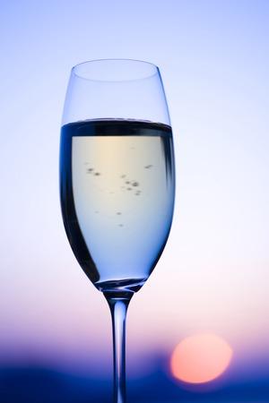 twilight: Twilight white wines Stock Photo