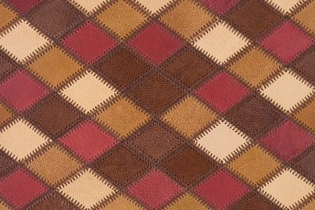 Sheep leather patchwork