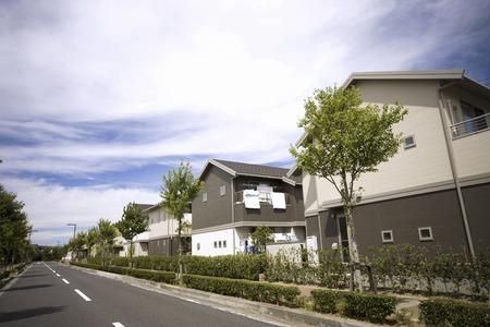 Nieuwe woonwijk Stockfoto