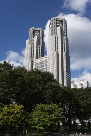 central government: Tokyo Metropolitan Government Building and Shinjuku Central Park