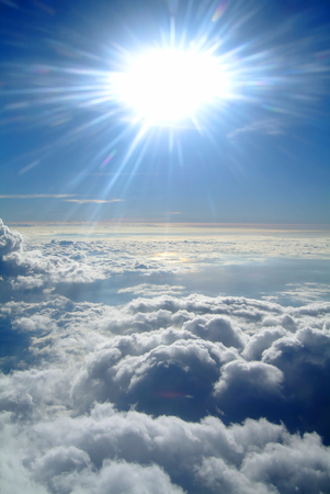 seen: Clouds as seen from an airplane Stock Photo