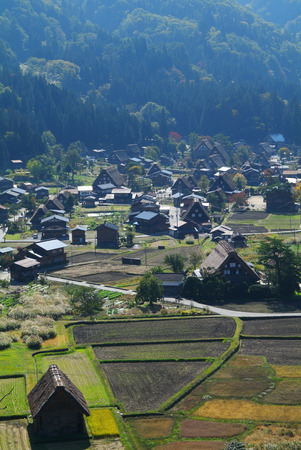 shirakawago: Shirakawago Ogi-machi village Stock Photo